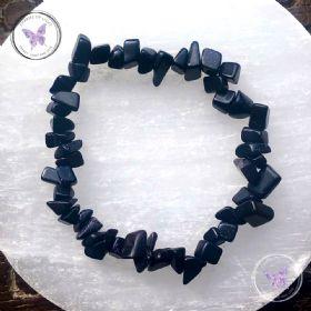 Blue Goldstone Chip Stretch Bracelet